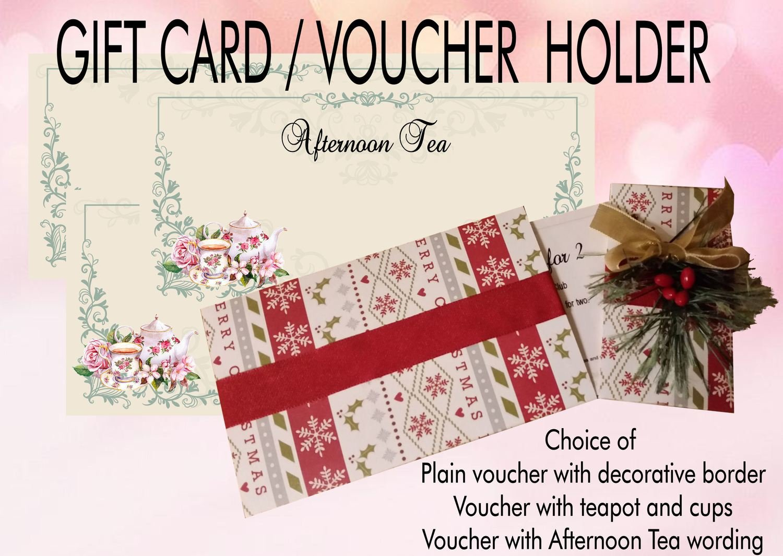 Gift card - Voucher holder Money Wallet inc 3 printable vouchers