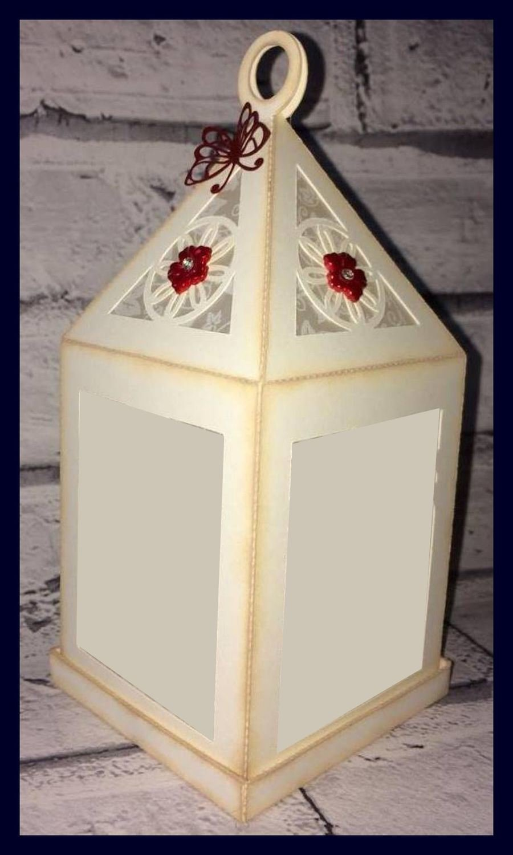 Lantern  3d model with plain windows