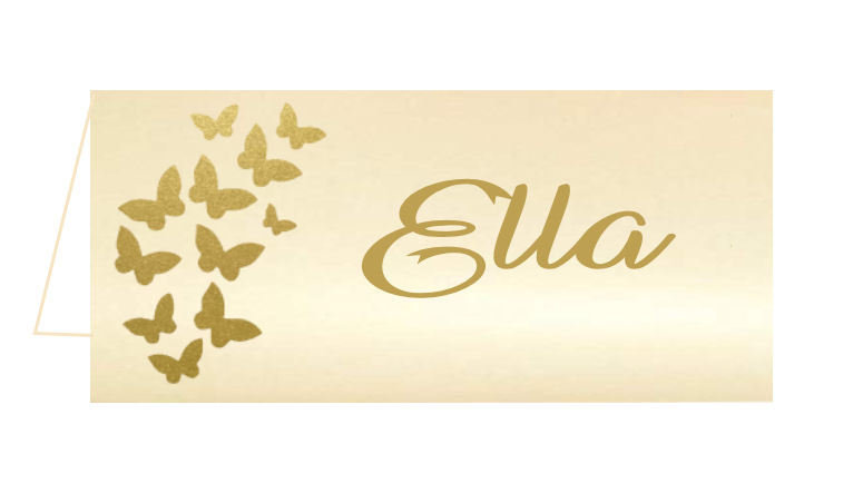 Butterfly Wedding place name cards, this compliments the Wedding Butterfly Pocket Invitation