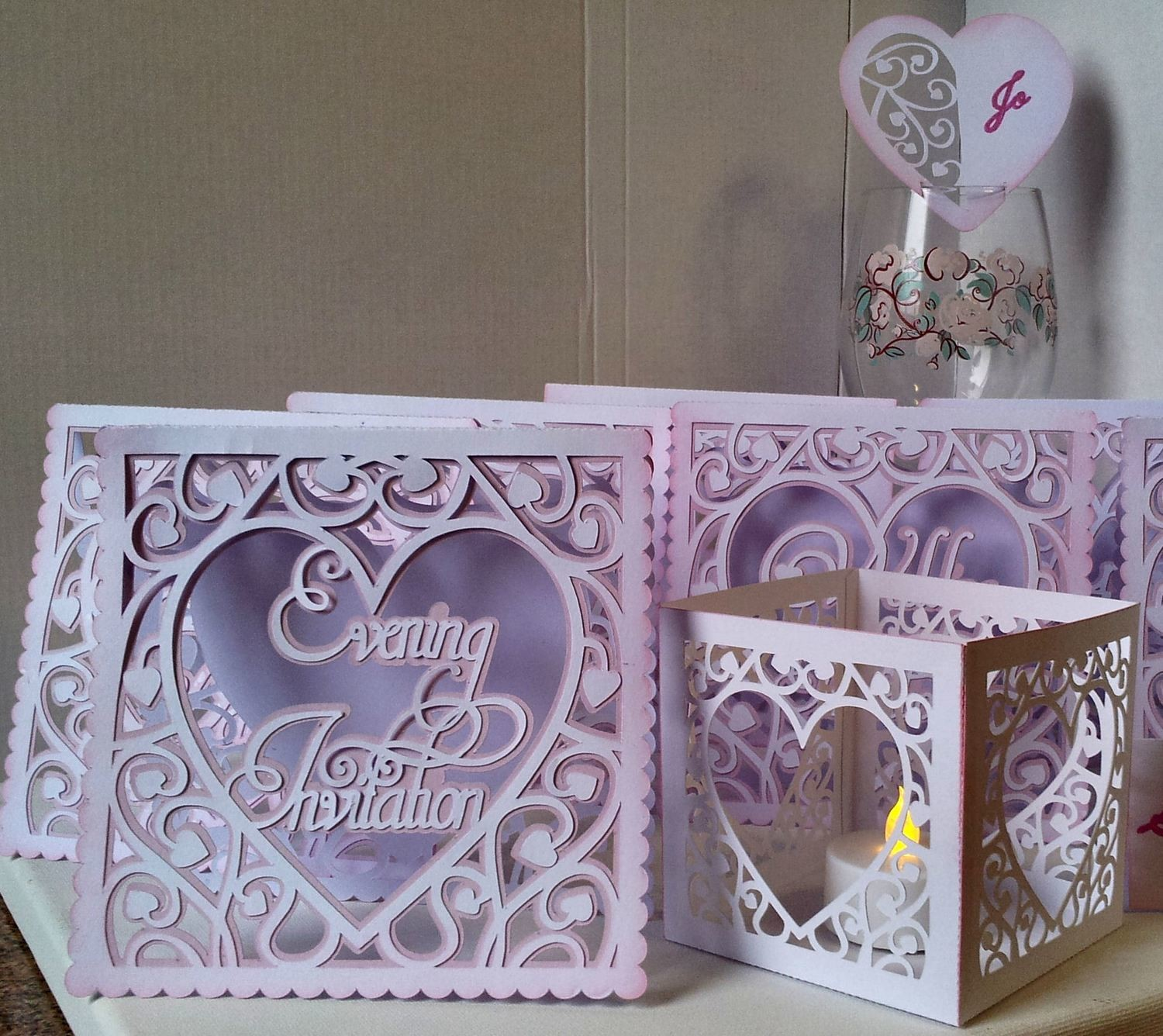 Heart Swirls Starter Set  ( 8 files with 2 for free)