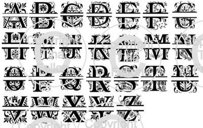Split Letters - All 26 letters