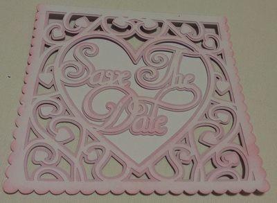 Heart Swirls Save The Date card template