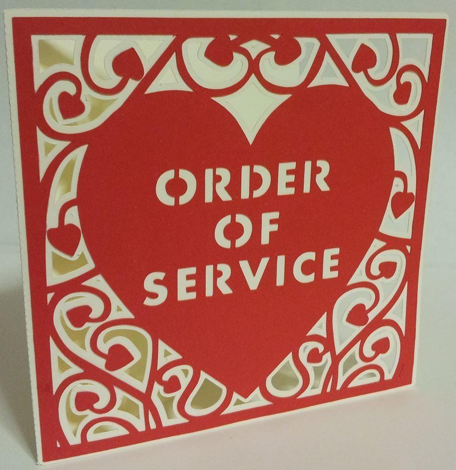 Heart Swirls Order Of Service