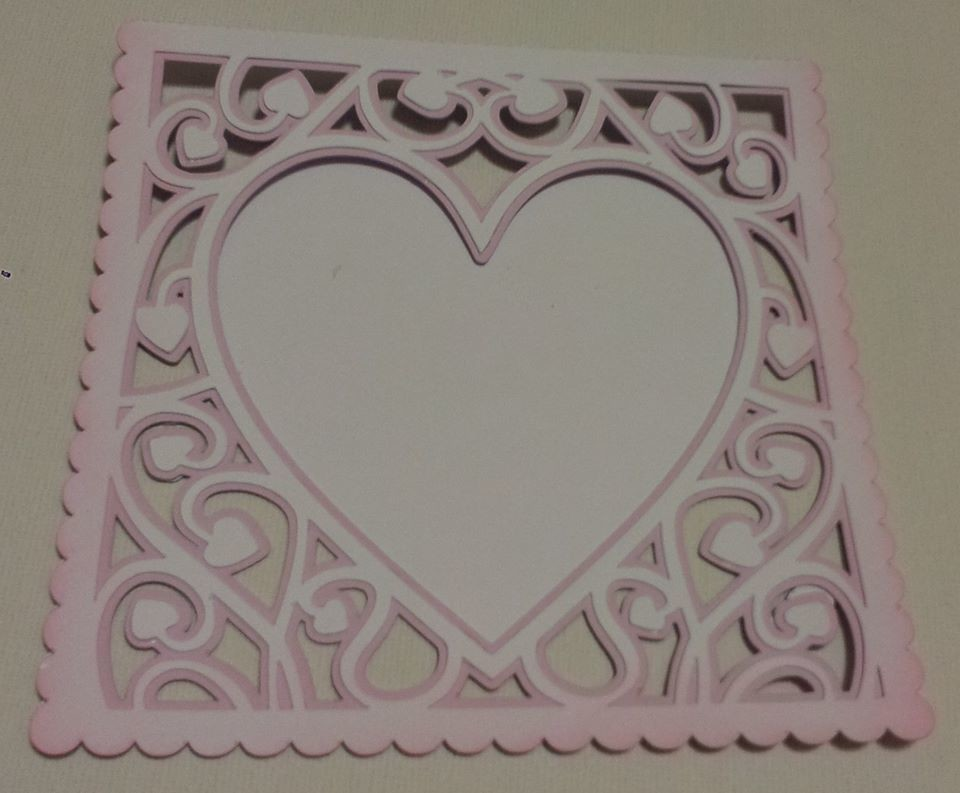 Heart Swirls  card template
