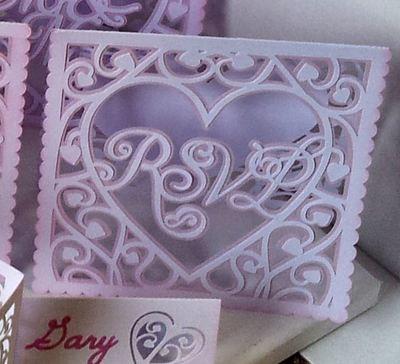 Heart Swirls RSVP  card template