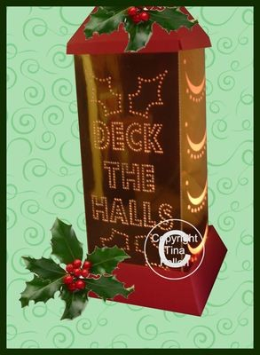 3d Lantern - Lamp - Christmas Deck The Halls