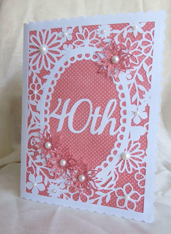 40th Birthday floral card - studio