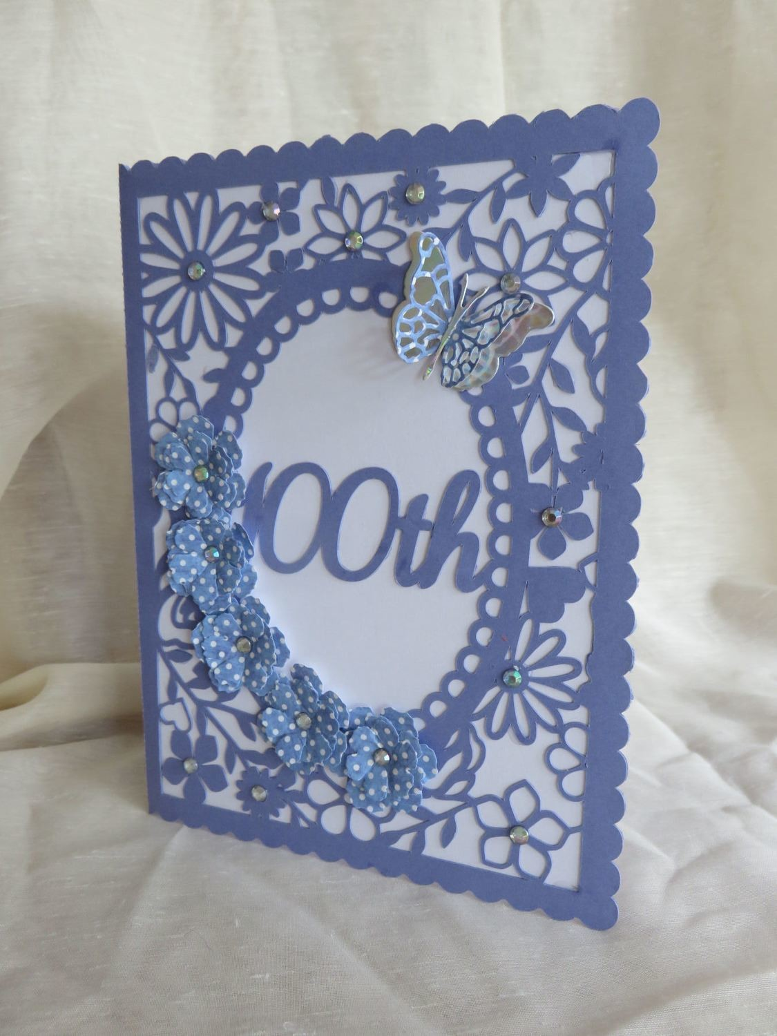 100th Birthday floral card - studio