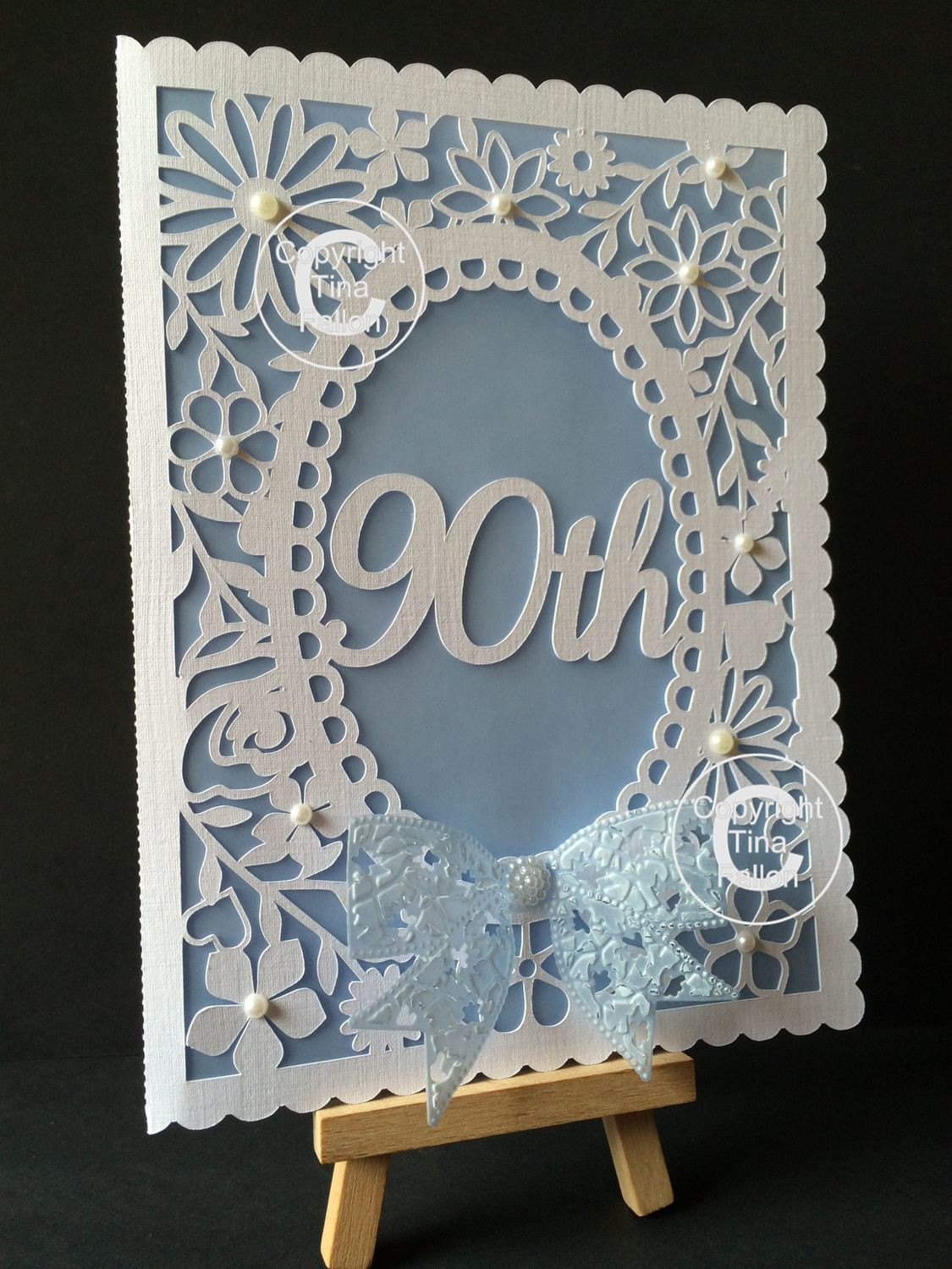 90th Birthday floral card - studio