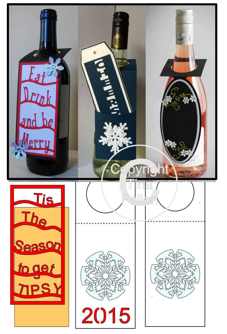 Wine Bottle Tags - *BUMPER PACK *  Set 4 -    Studio format