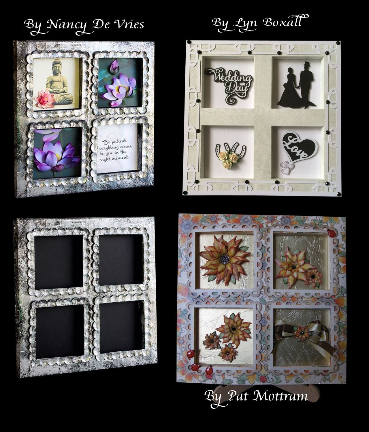 4 Window Shadow box  - with 3 choices of frame surrounds -