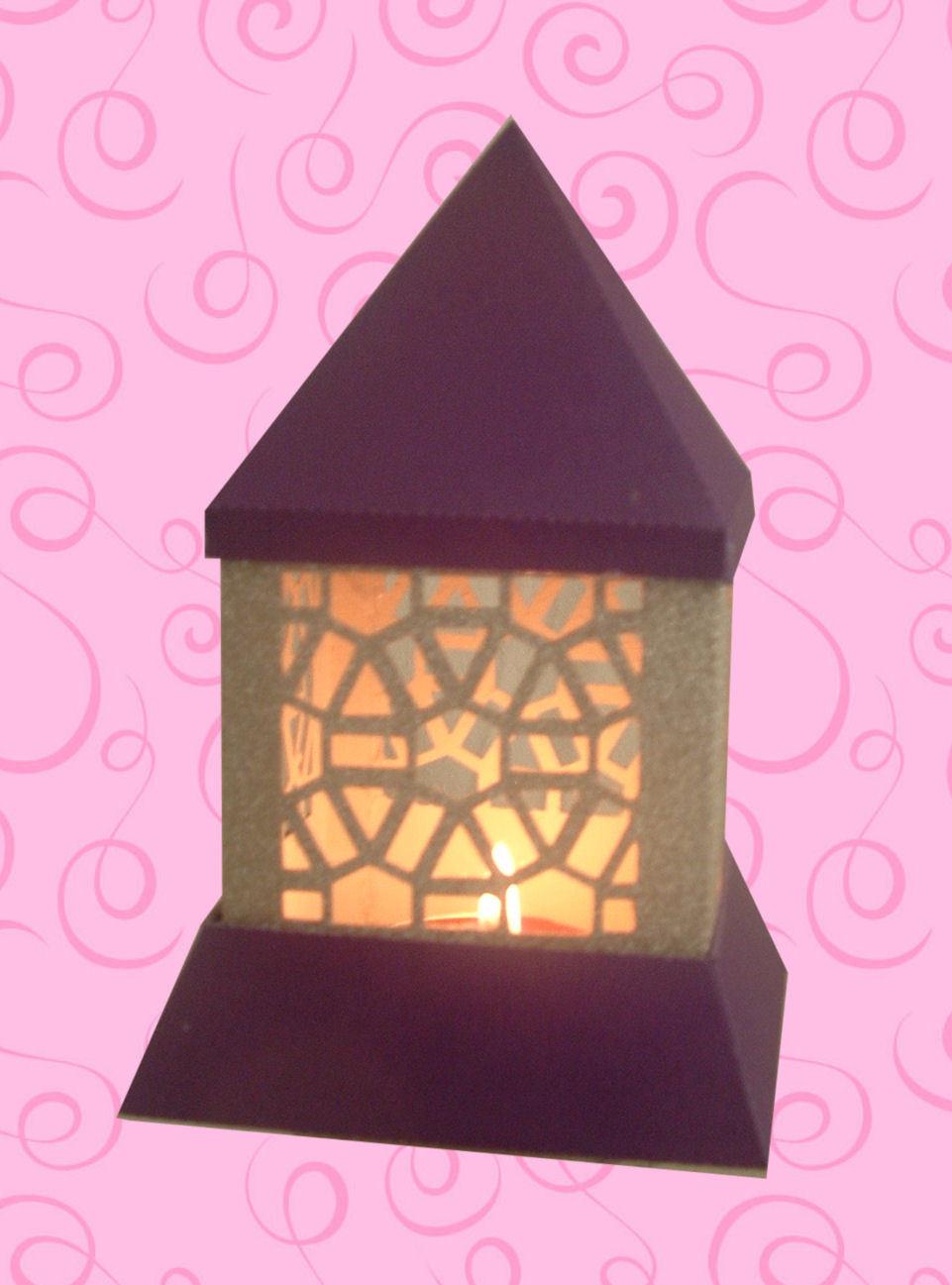 3d MINI  Luminaire - Lantern - Lamp - Hexagons Abstract