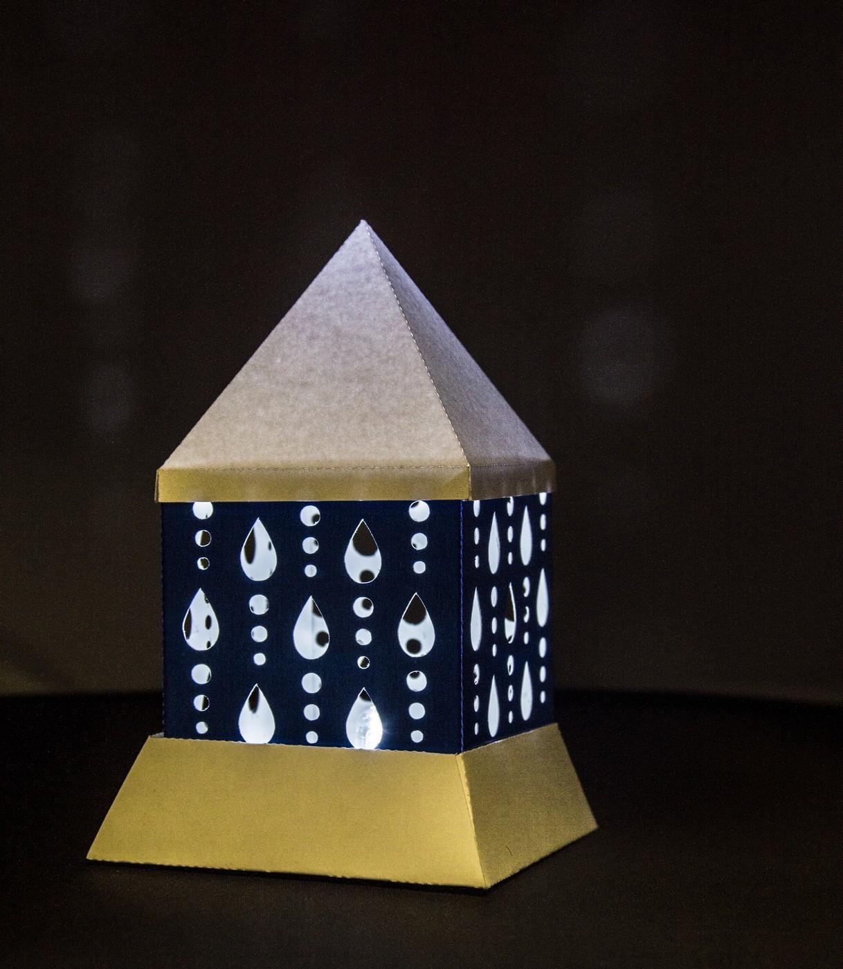 3d MINI  Luminaire - Lantern - Lamp - Raindrops