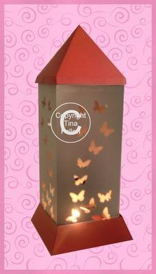 3d Lantern - Lamp - Butterflies
