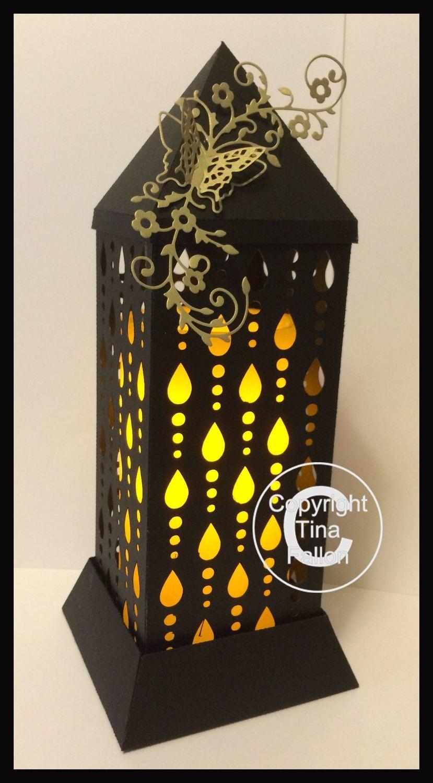 3d Lantern - Lamp - Raindrops