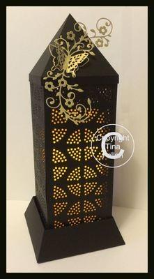 3d Lantern - Lamp - Abstract Circles