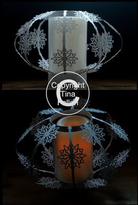 Snowflake Luminaire   Great table centrepiece for Weddings and Parties.