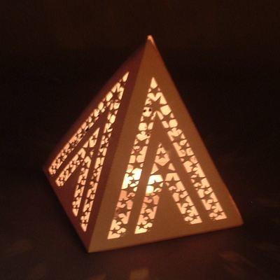 Pyramid - star pattern luminaire