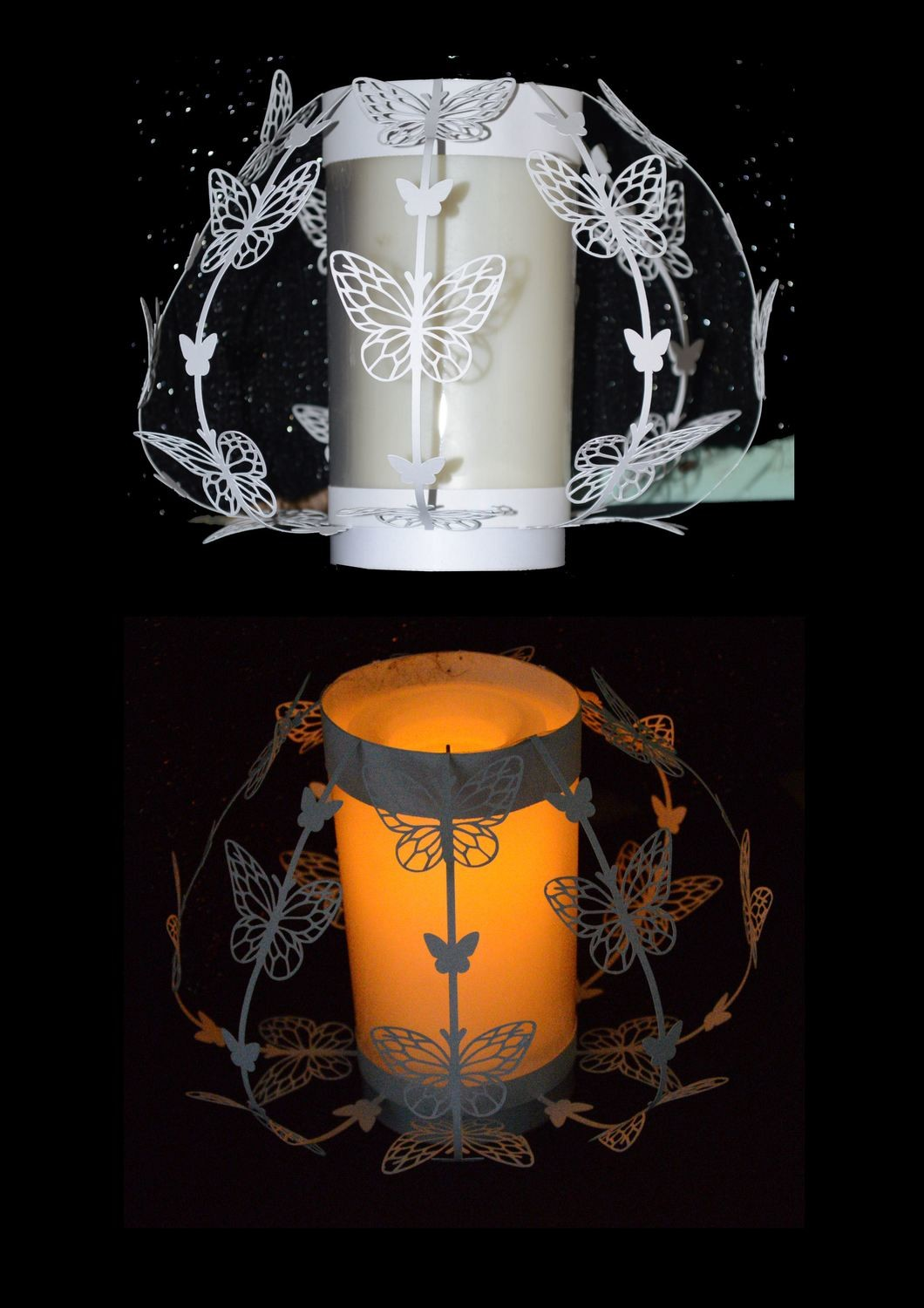Laced Butterfly Luminaire   Great table centrepiece for Weddings and Parties.
