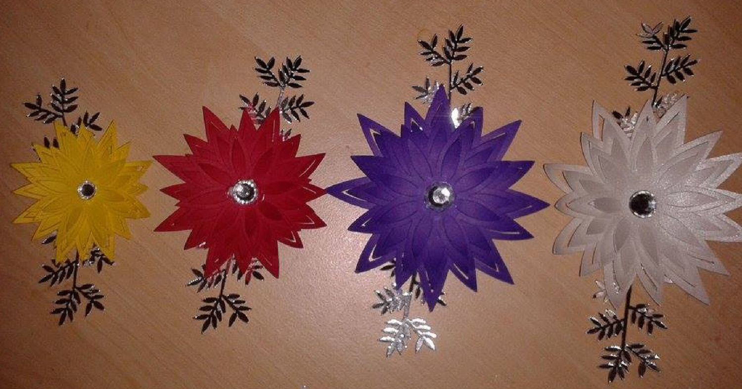 Star Flower. Create your own stunning flowers  - SVG format