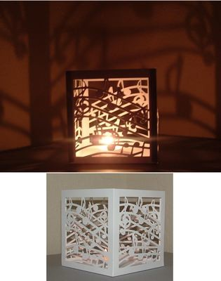 Music Notes Luminaire / Gift Box cutting file