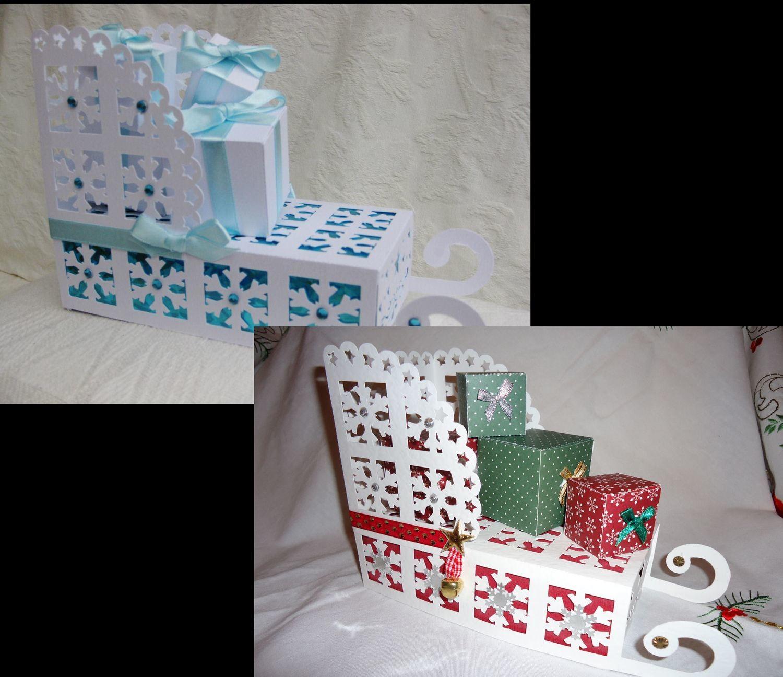 Christmas 3d Snowflake Sleigh Santa Father Christmas commercial use