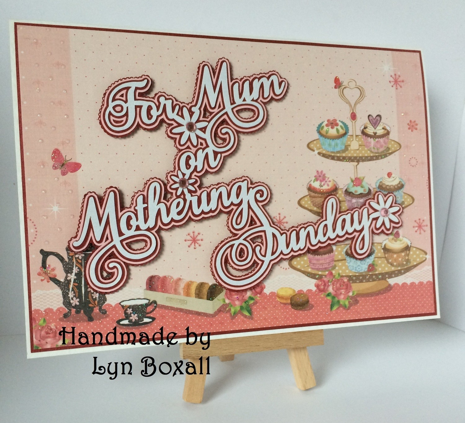 Mum on Mothering Sunday layered topper