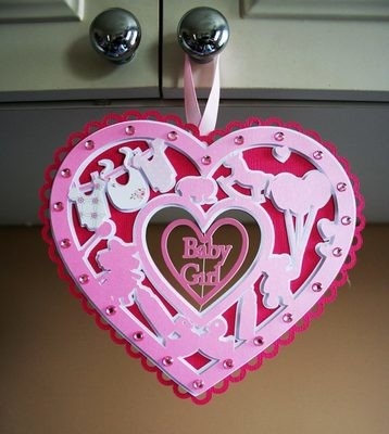 Decorative Baby Heart for girl -  6 layered file