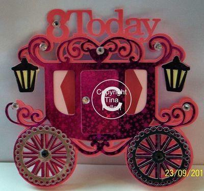 Princess Carriage 8 today Card Template
