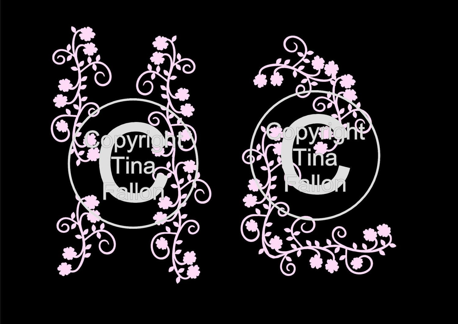 Cherry Blossom Flourishes ideal for my gazebo card -  svg