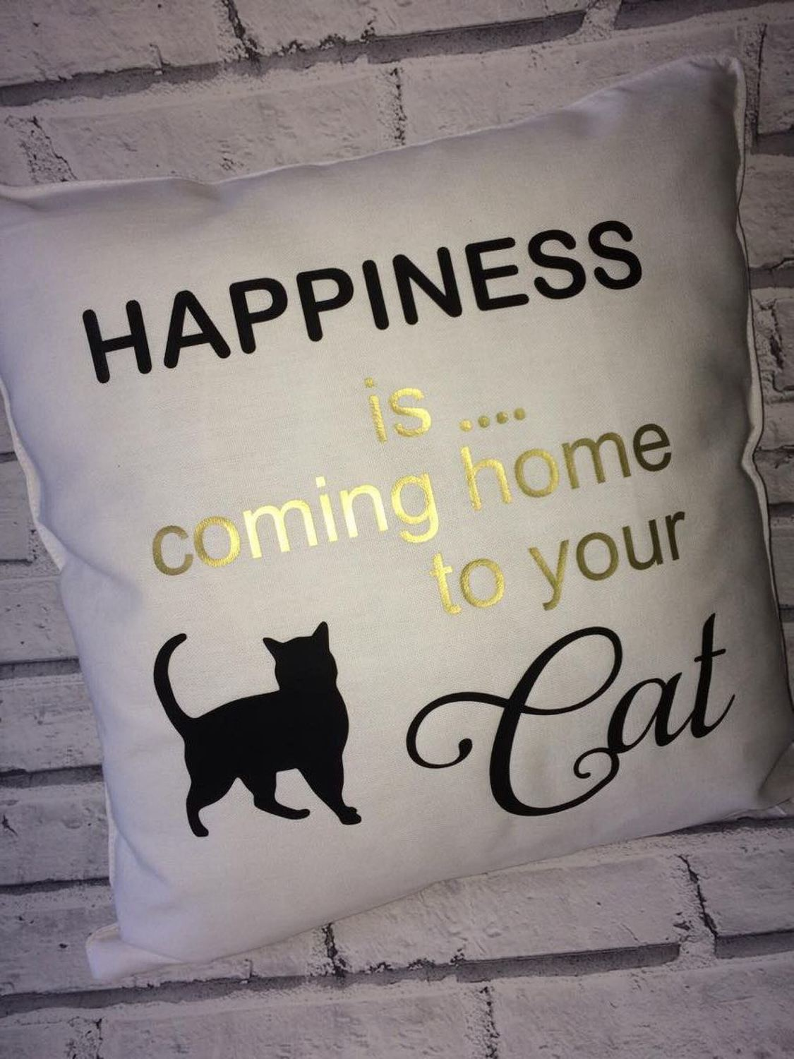 Happiness is coming home to your  Cat design 1 - vinyl HTV etc