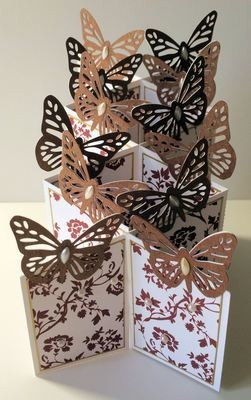Butterfly Themed Cascade Card - studio format