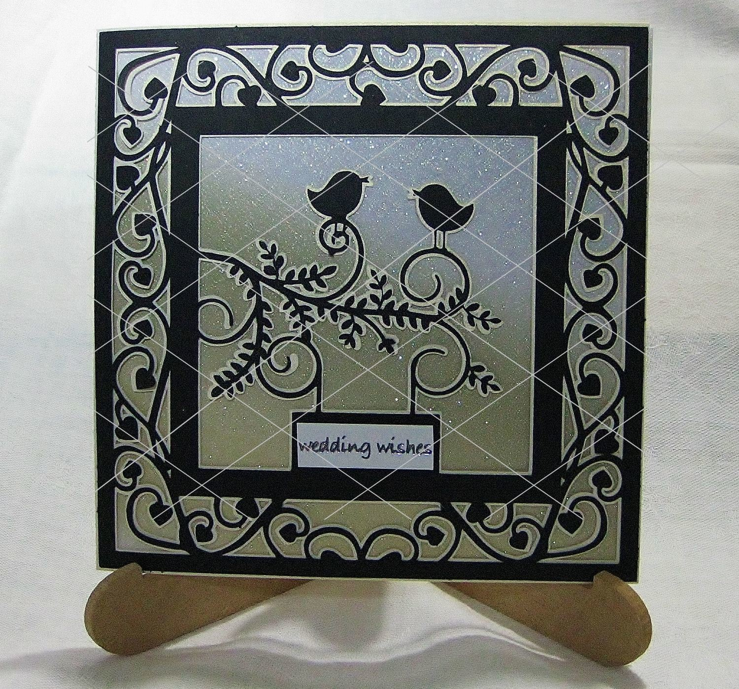 Love Birds Card Template Romance Wedding Engagement Invitations Valentinesetc