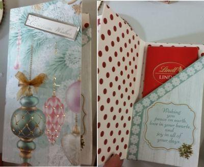Christmas Chocolate Bar gift box card - studio file.