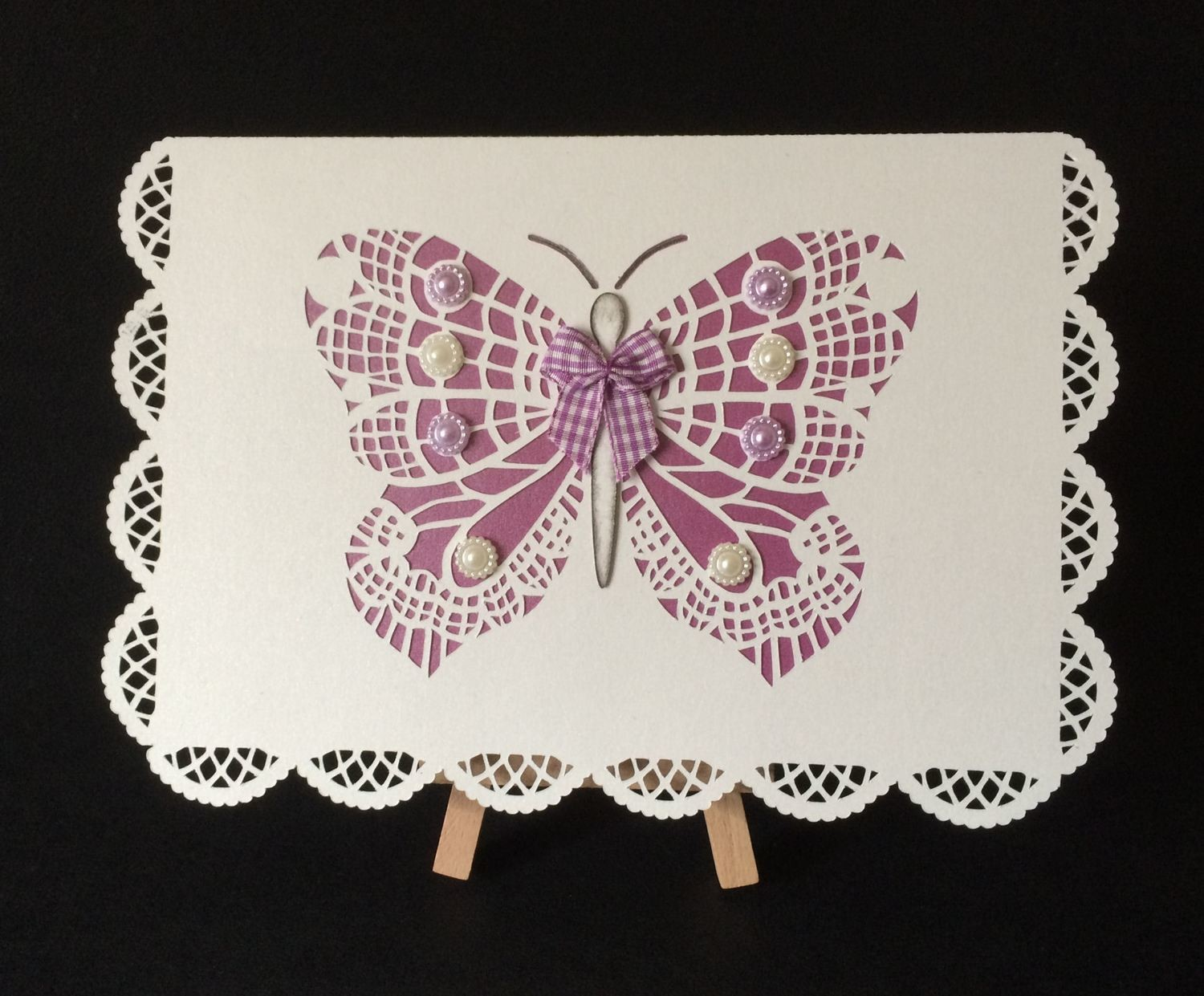 Butterfly card lacey