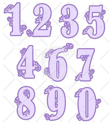 Filigree Butterfly Numbers Set