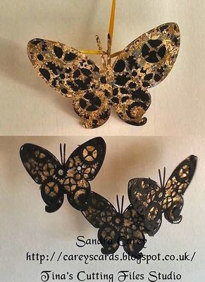 Steampunk Butterfly Topper