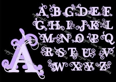 Filigree Butterfly Alphabet Set Alpha