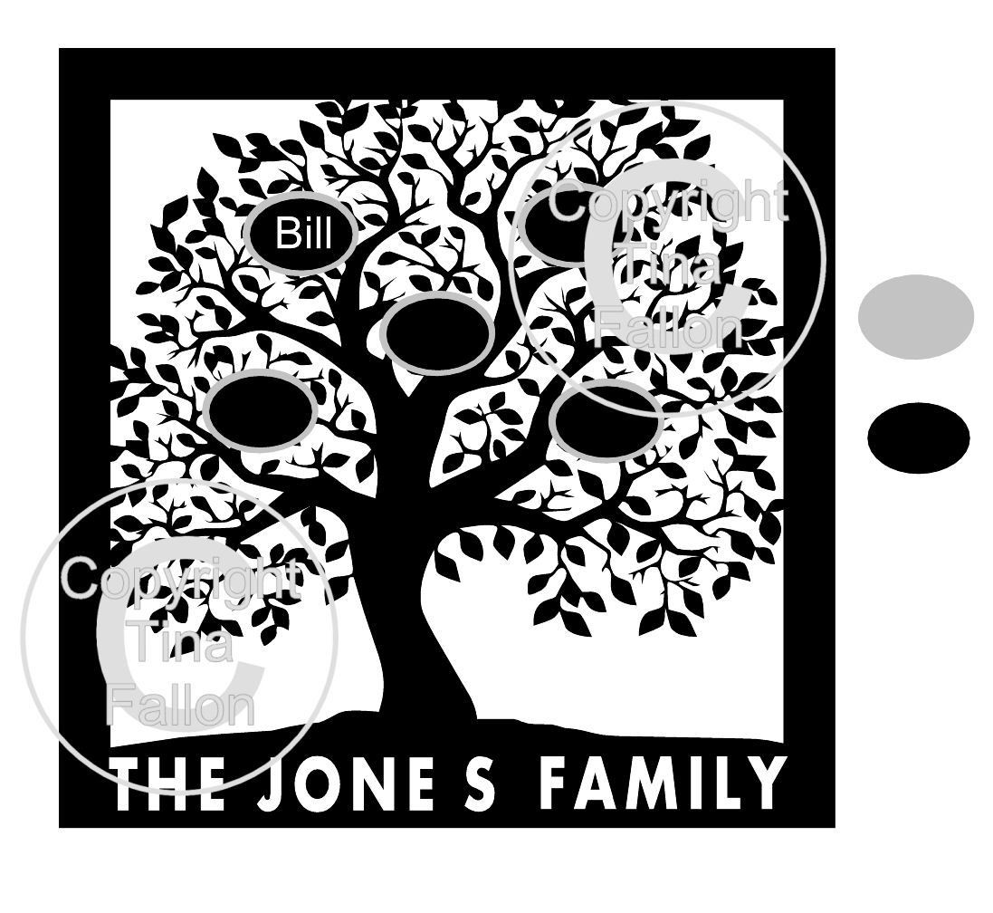 Family Tree (leafy) for any number of names PLEASE READ INFO