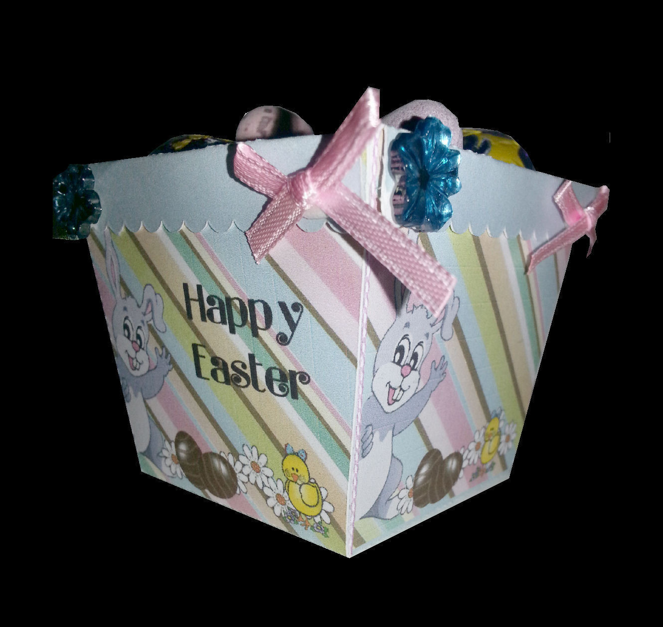 Easter Planter Chocolate Box No 6   print n cut studio cutting file