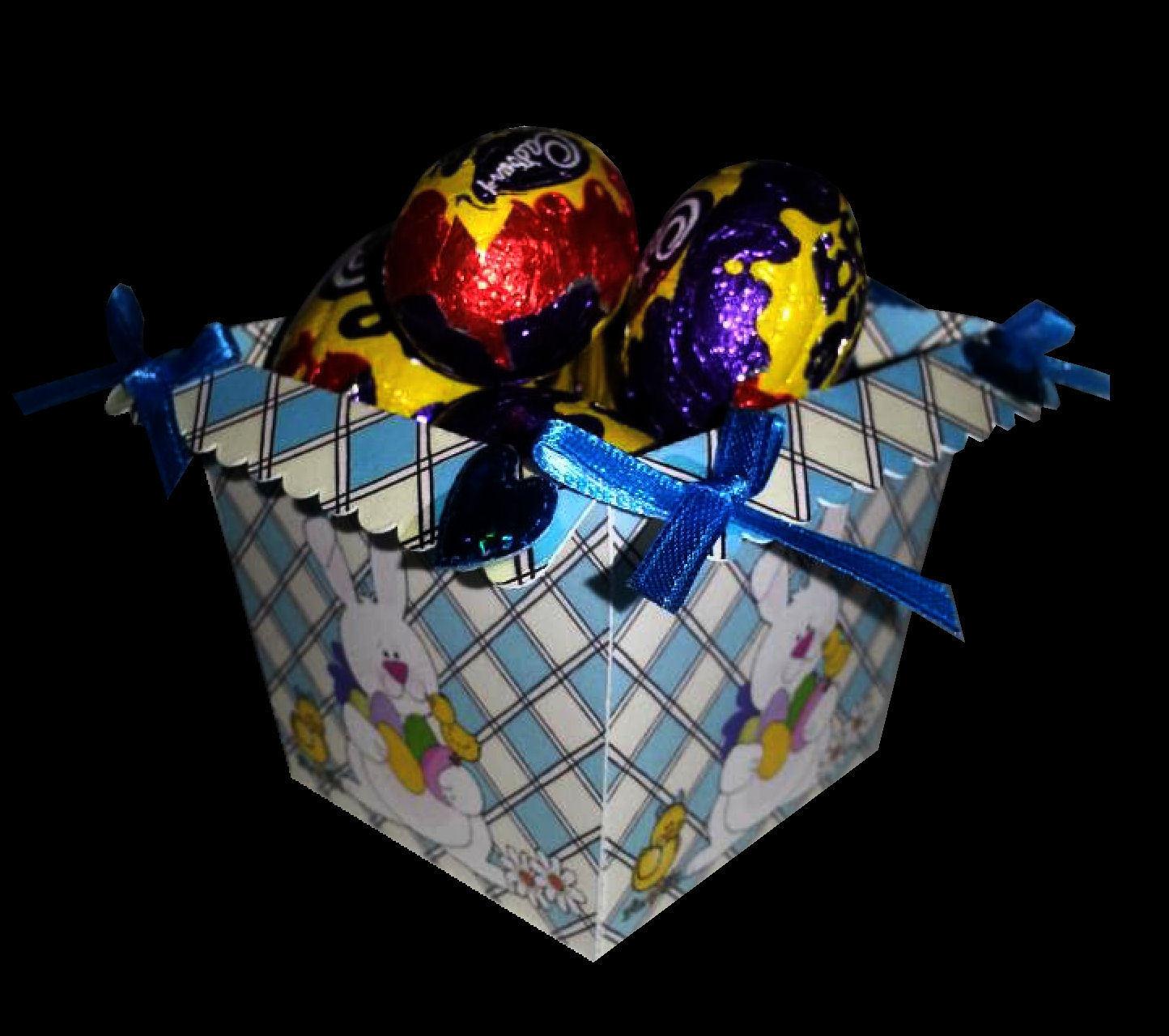 Easter Planter Chocolate Box No 5   print n cut studio cutting file