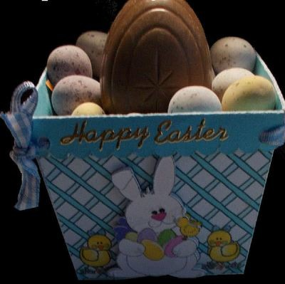 Easter Planter Chocolate Box No 3   print n cut studio cutting file