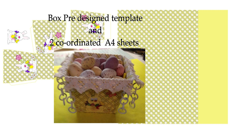 Easter Planter Chocolate Box No 2   print n cut studio cutting file