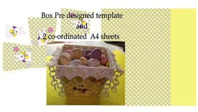 Easter Planter Chocolate Box No 2   print n cut studio cutting file
