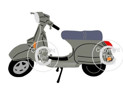 Classic Bike, Motorbike,Motorcycle Vespa multi layered