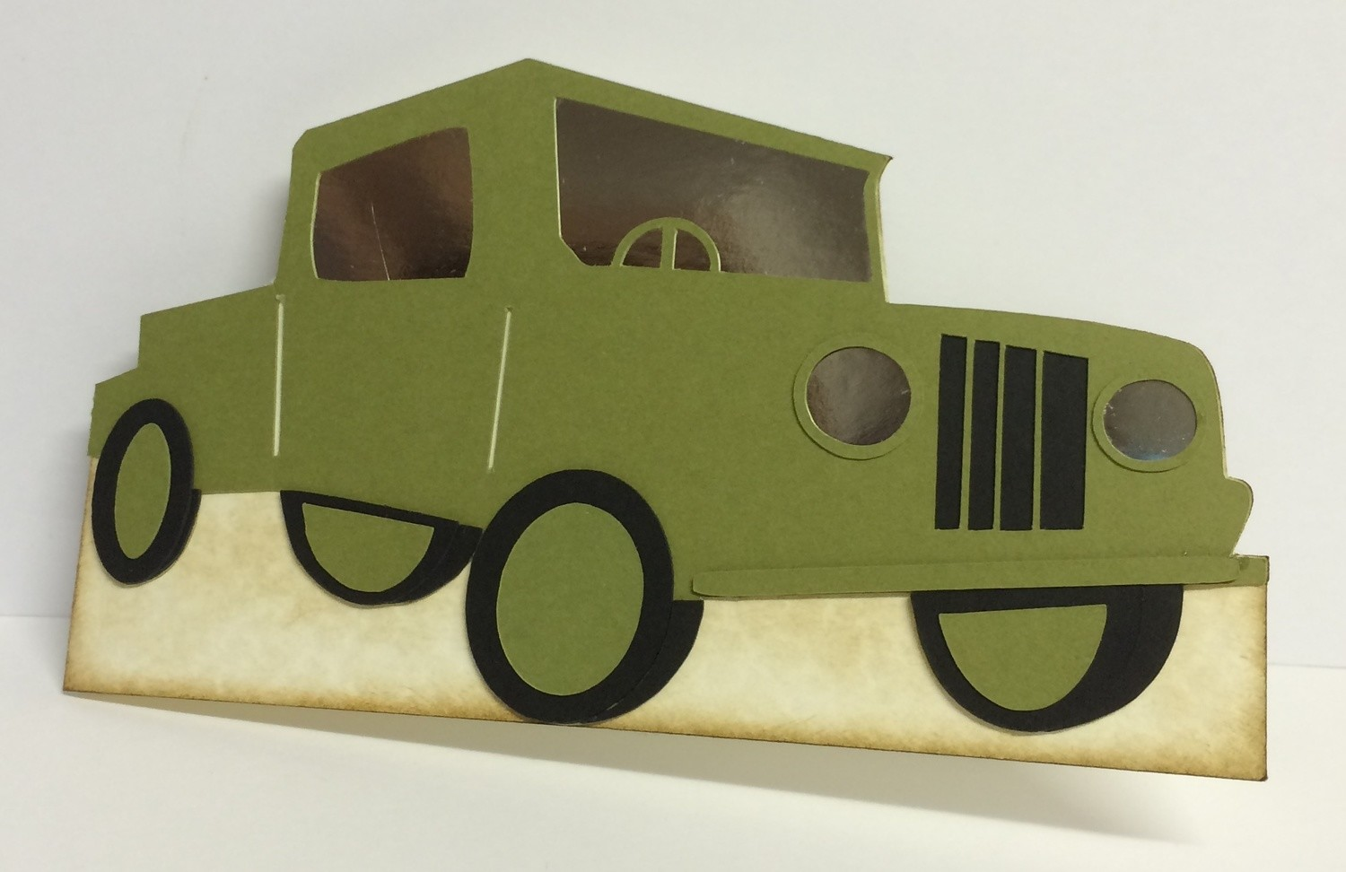 JEEP 4 x 4  vehicle  -  layered card template