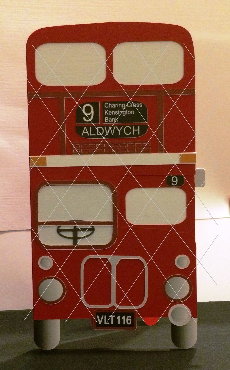 Routemaster RM116 London  Bus layered card template and optional print n  cut