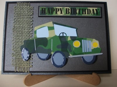 JEEP 4 x 4  vehicle  -  layered card topper