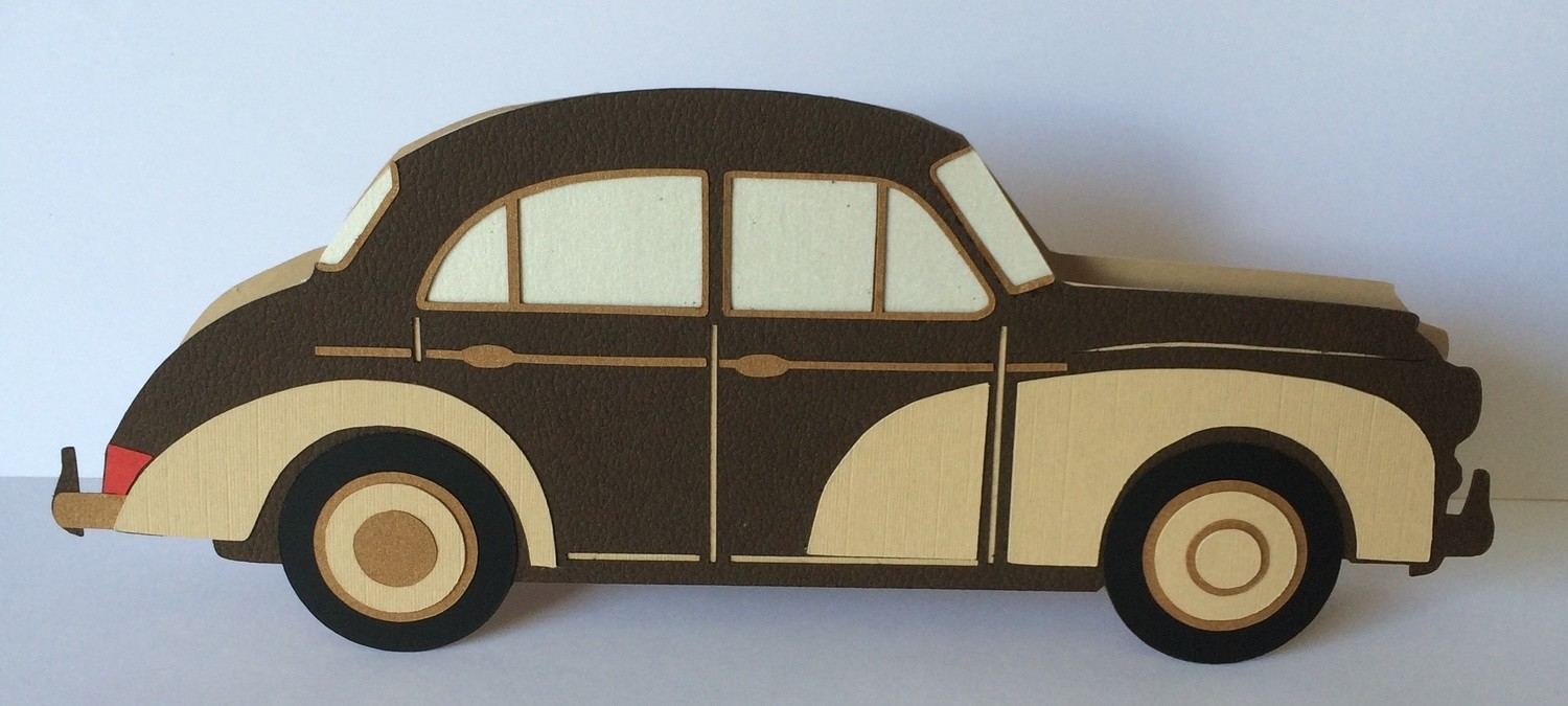 Classic Car ** Morris Minor ** Card Template and Topper