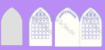 Christening Card Gatefold Style